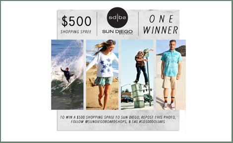 Win a $500 Sun Diego Shopping Spree!