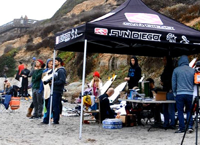 Annual Sun Diego Inter Shop Surf Contest