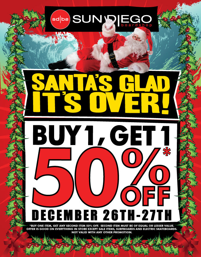 Sun Diego's Annual Santa's Glad It's Over Sale