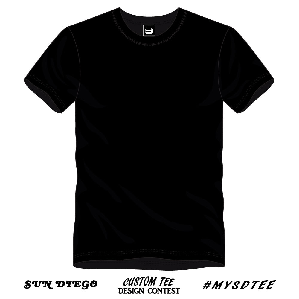 Sun Diego Custom Tee Design Contest Black