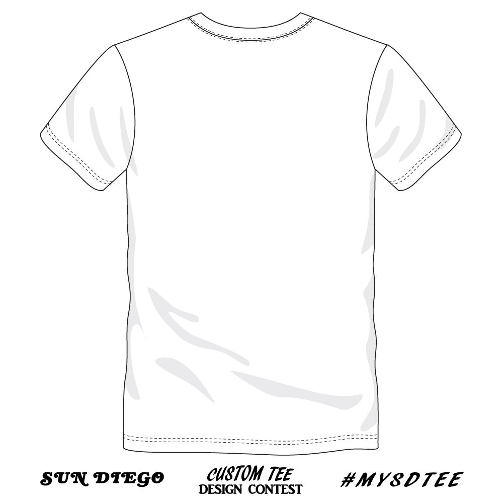 Sun Diego Custom Tee Design Contest White Back