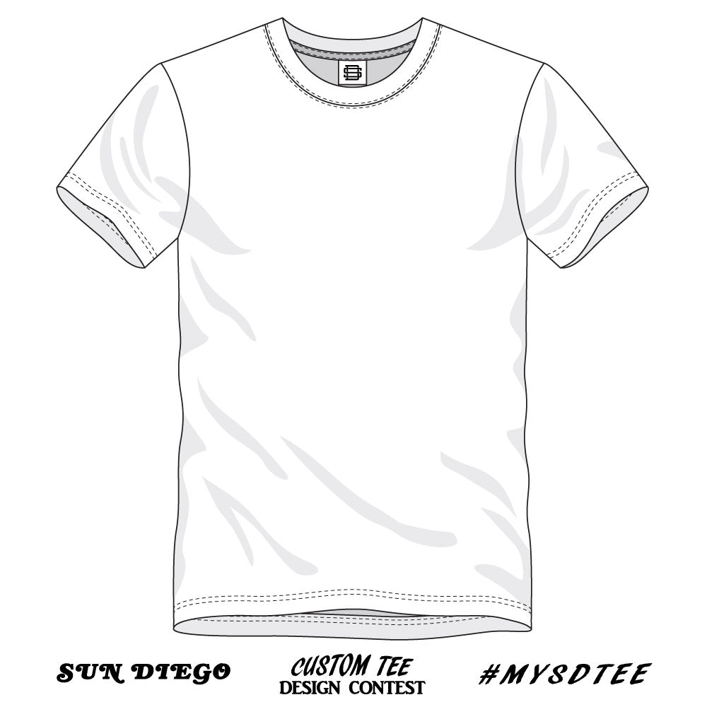 Sun Diego Custom Tee Design Contest White Front