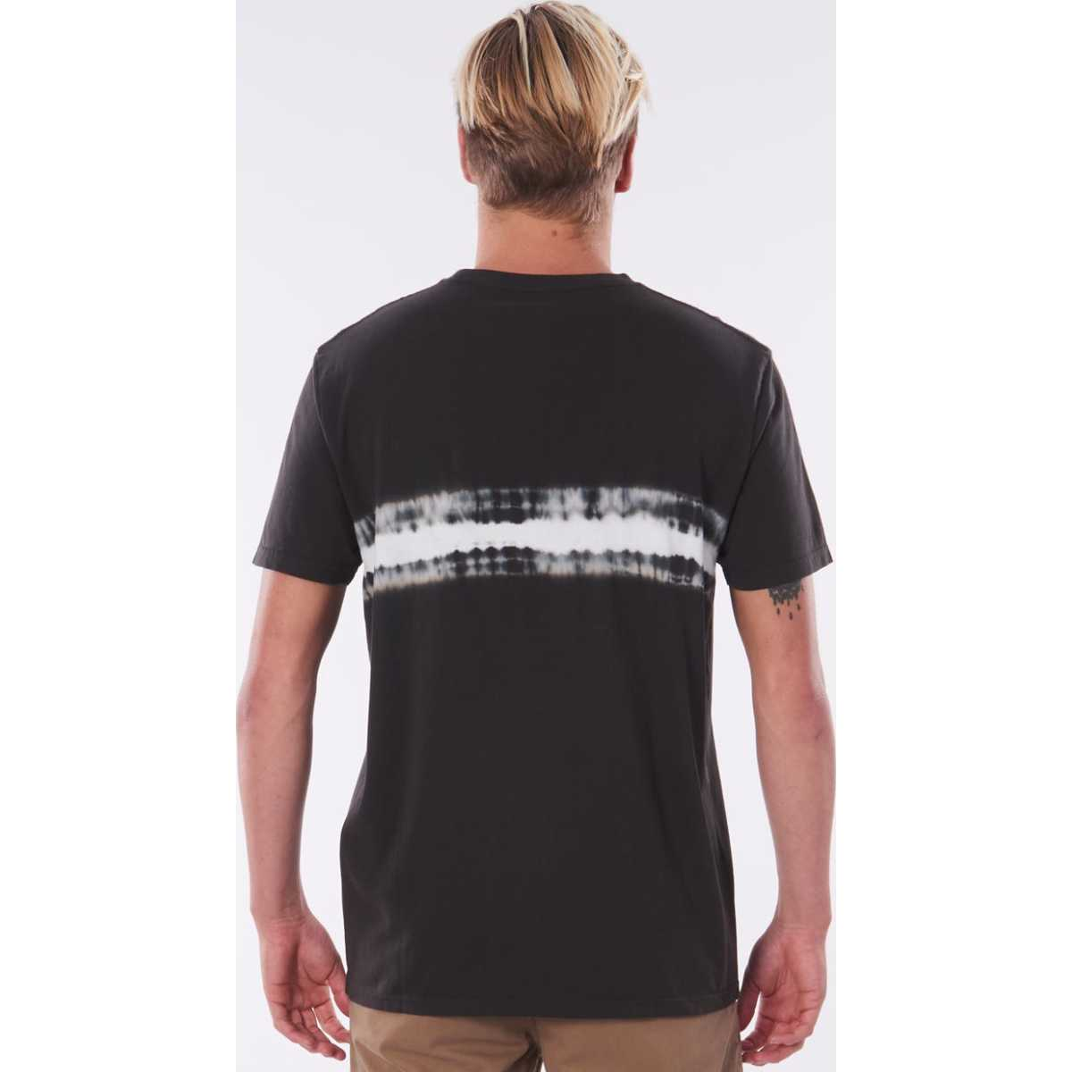 Rip Curl Grateful Dye Tee In Washed Black