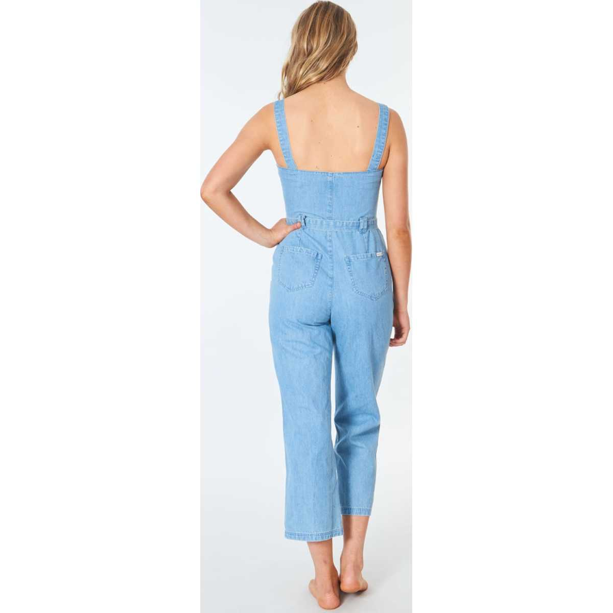 Rip Curl Golden Days Jumpsuit In Blue