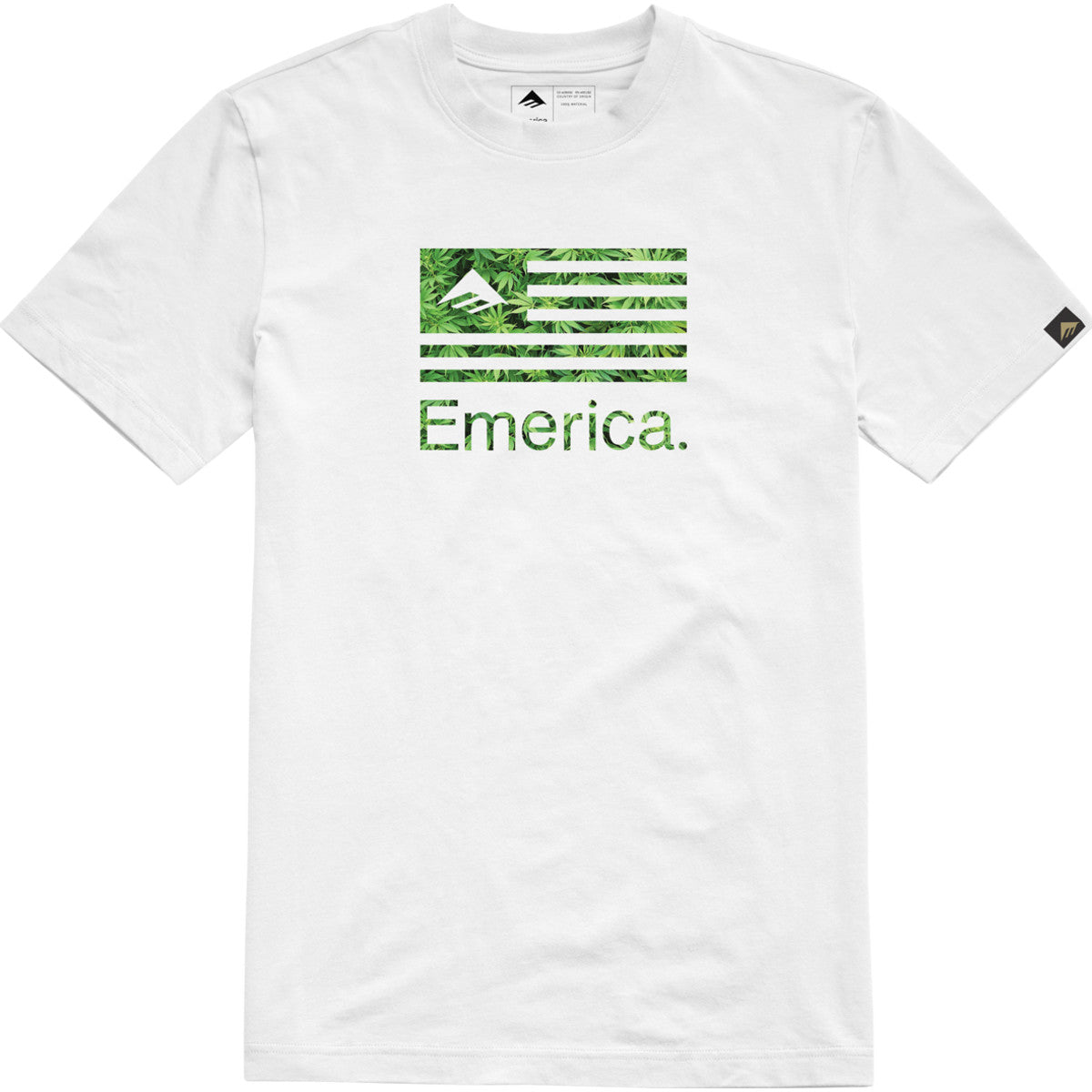EMERICA PURE FLAG WHI/GREEN
