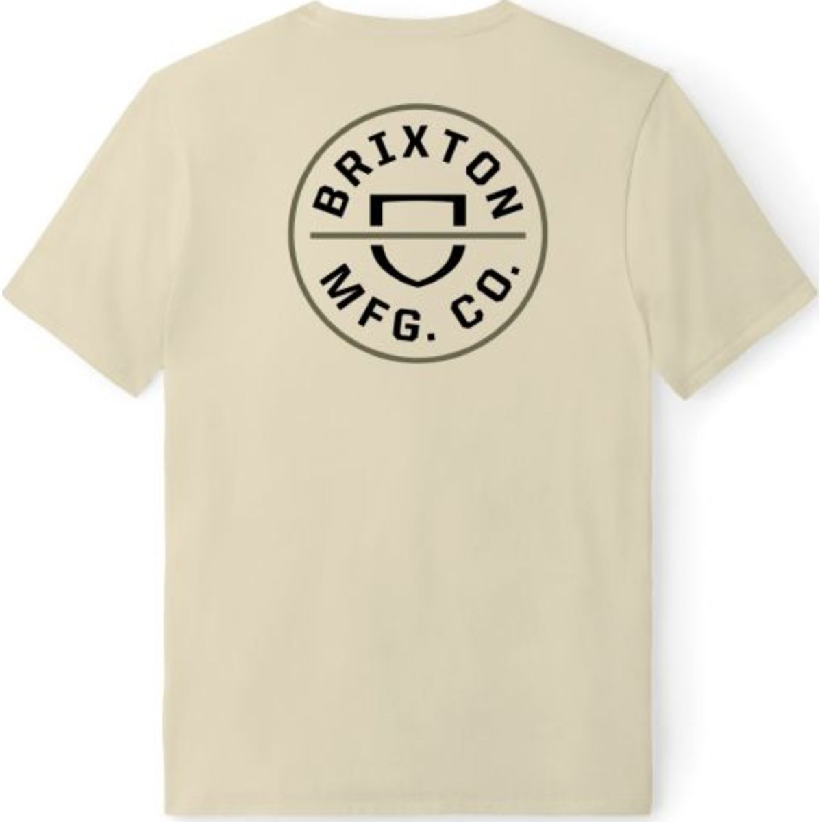 BRIXTON CREST RECYCLED S/S STANDARD TEE - SAND