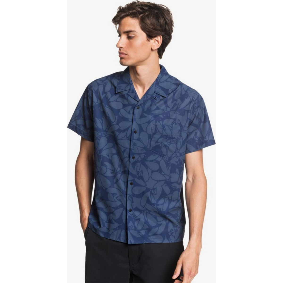 Quiksilver Waterman Floral Lake Upf 30 Short Sleeve Shirt