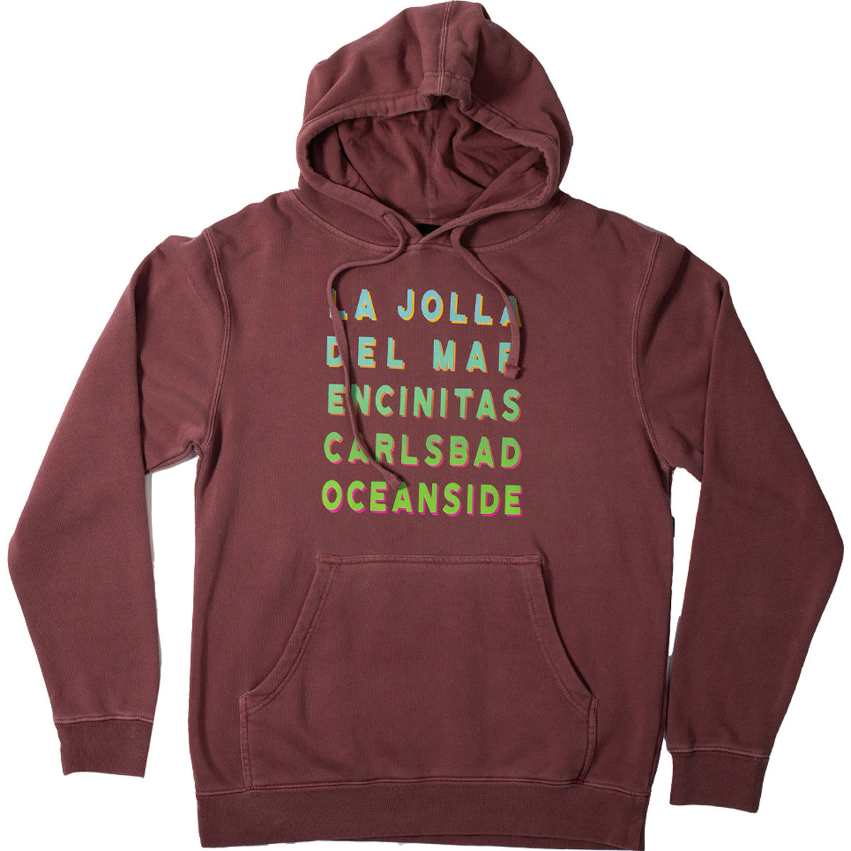 Sun Diego Beach Town Hooded Sweatshirt