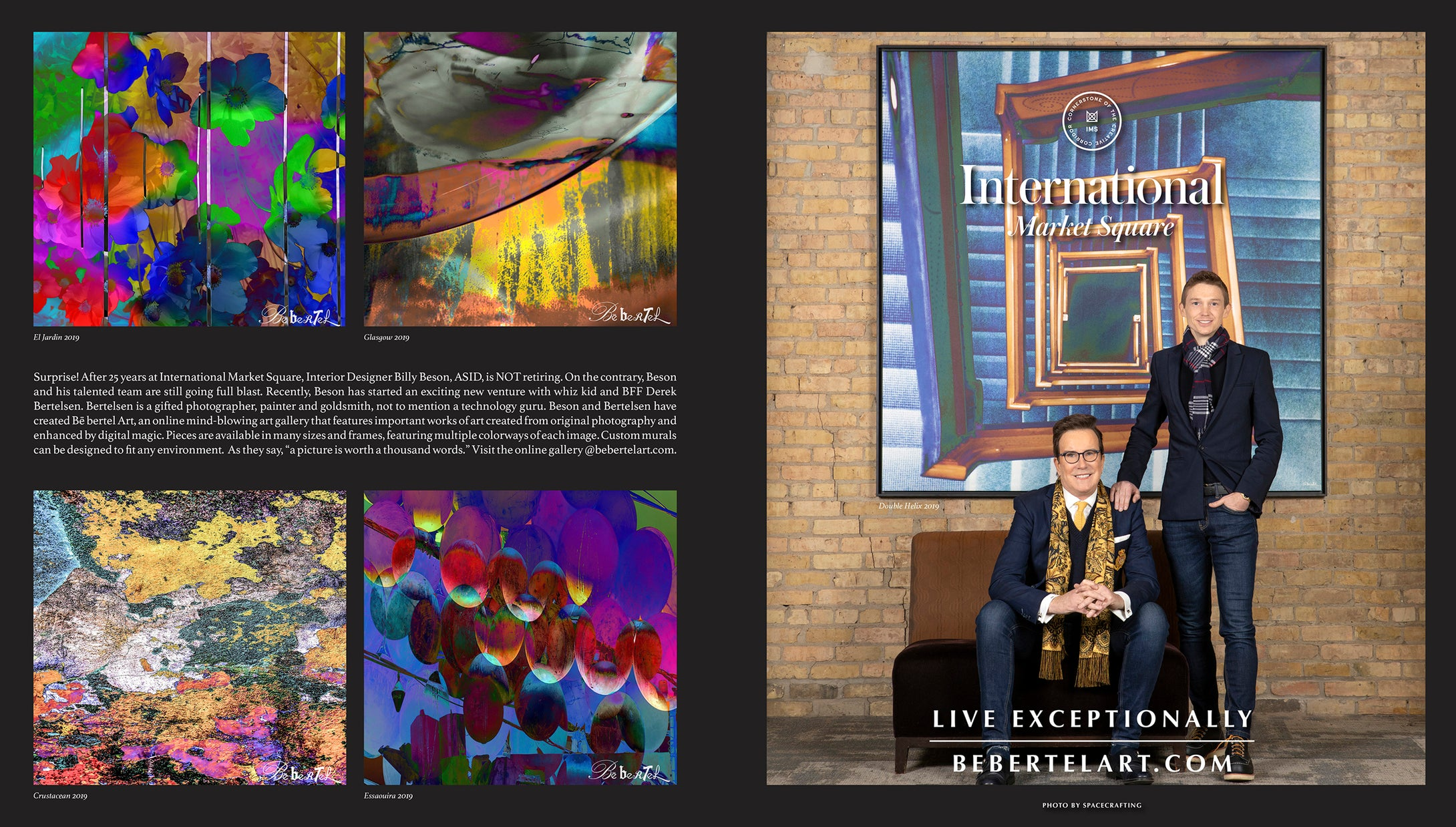 Bē bertel Art in Artful Living Winter 2020