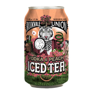 BROOKVALE UNION VODKA & PEACH ICED TEA 330ML