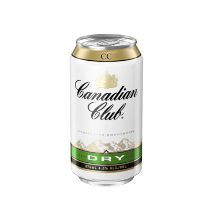 CANADIAN CLUB WHISKEY DRY 4.8% 375ML