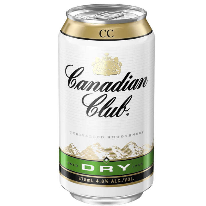 CANADIAN CLUB WHISKY & DRY 4.8% CANS 375ML