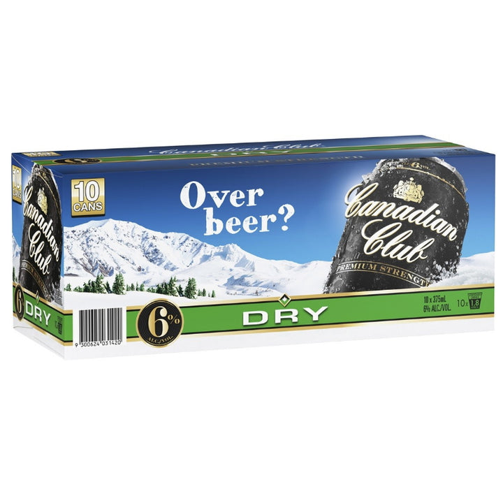 Canadian Club Whisky & Dry Cans 10 Pack 6.0%  375mL