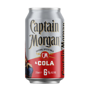 CAPTAIN MORGAN ORIGINAL SPICED GOLD & COLA 10 PACK 375ML