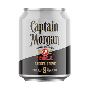 CAPTAIN MORGAN & COLA BARREL SERVE 9% CANS 250ML