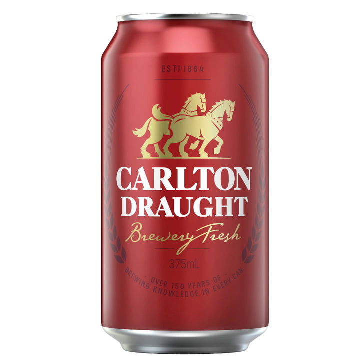 CARLTON DRAUGHT CANS 375ML