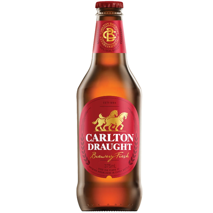 Carlton Draught Bottles 375mL