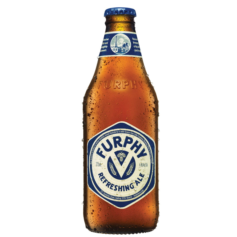 FURPHY REERESHING ALE 4.4% 375ML BOTTLE