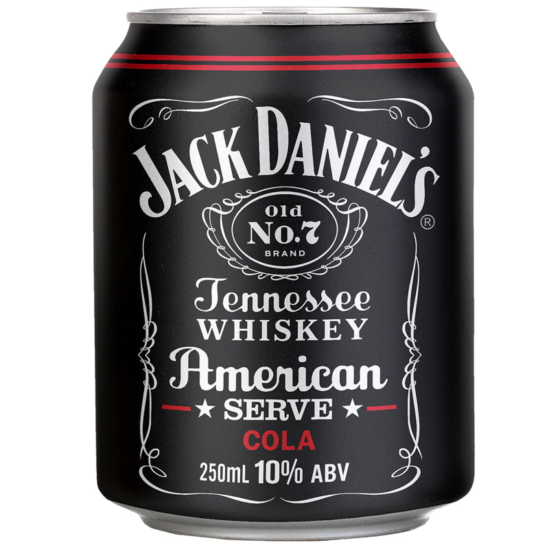 Jack Daniel's American Serve & Cola Cans 250mL