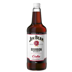 JIM BEAM WHITE LABEL BOURBON & COLA 500ML