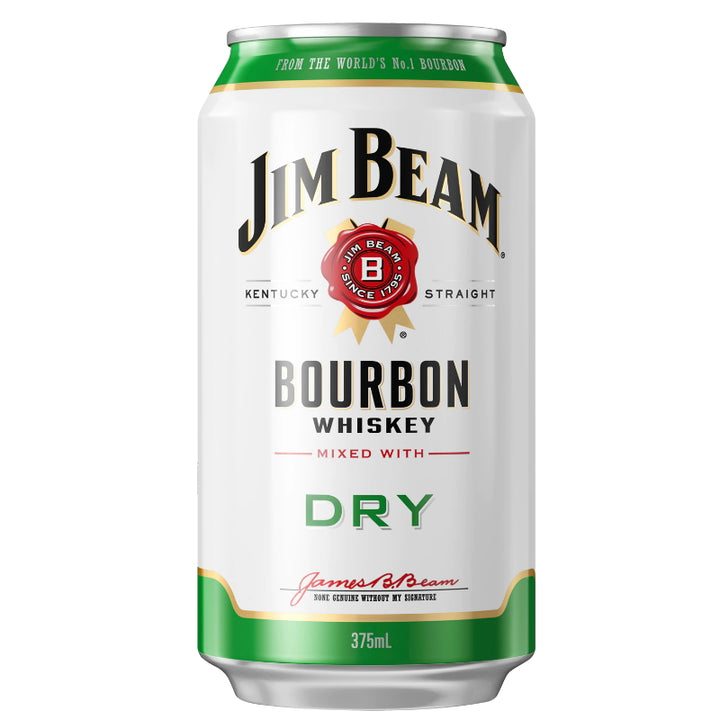 Jim Beam Bourbon & Dry 4.8% 375mL
