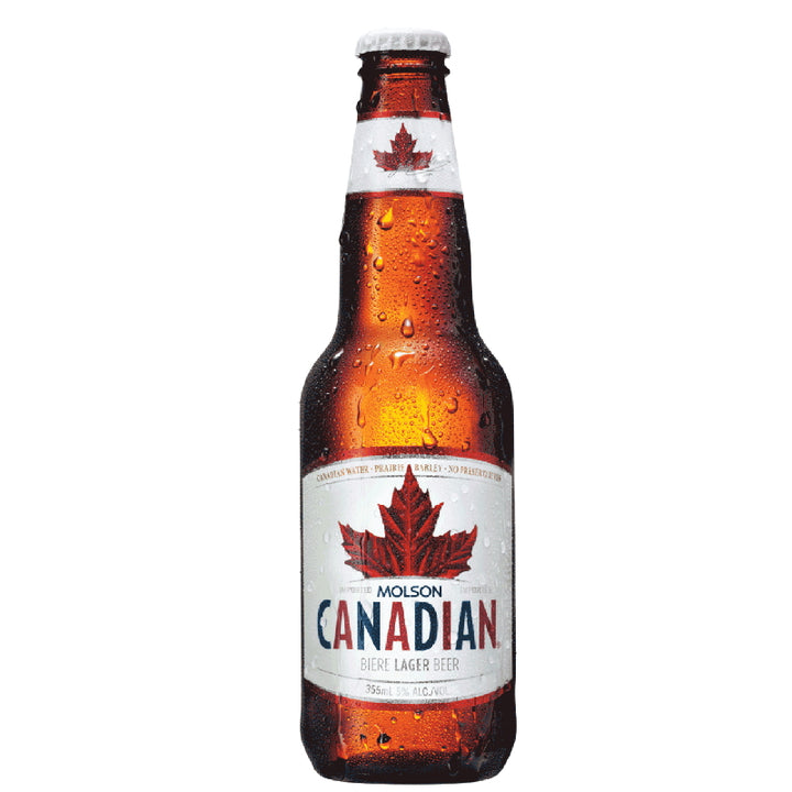 MOLSON CANADIAN LAGER BEER 5% 355ML