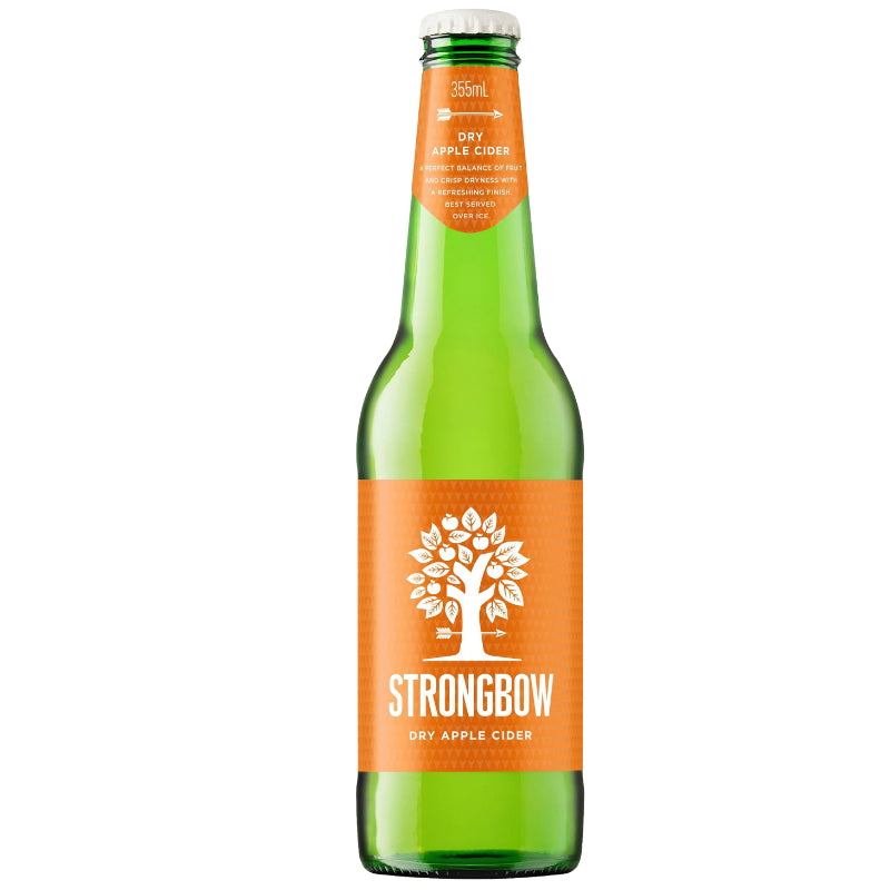 STRONGBOW DRY APPLE CIDER BOTTLES 5.0% 355ML