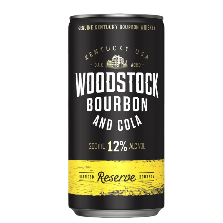 WOODSTOCK BOURBON & COLA 12% CANS 200ML