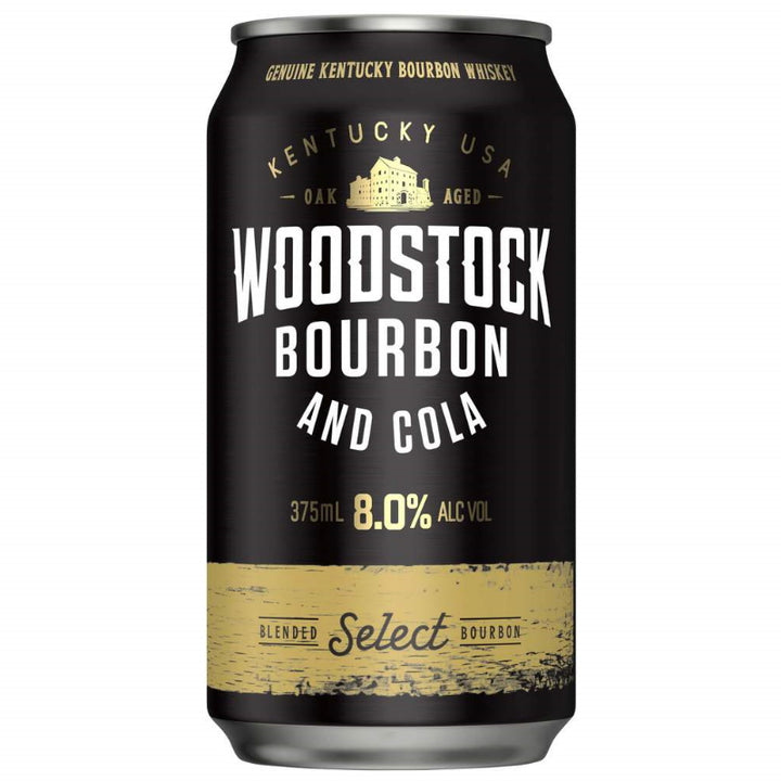Woodstock Bourbon & Cola 8.0% 375ML 10 Pack
