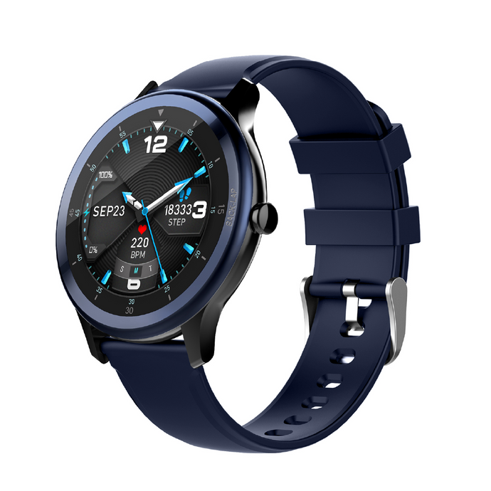 Evolves NextFIT Halo Sports True Round Display Smart Watch with Heart Rate, BP, SpO2 and 24 Sports Mode
