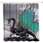 The Dragon Polyester Shower Curtain Bathroom Curtain - YAXIR