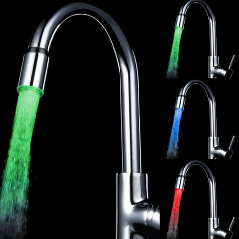 7 Color RGB Colorful LED Light Water Glow Faucet Tap Head Home Bathroom Decoration Water Tap - YAXIR
