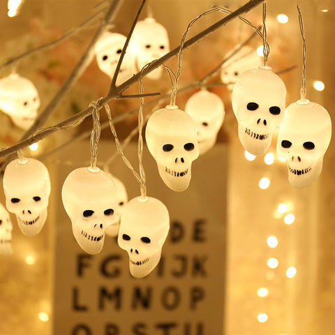 LED Decorative Halloween Cute Skull Light String for Festival - YAXIR