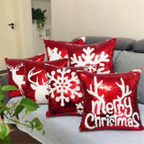 Christmas Pattern Positioning Embroidery Piece Fashion Pillow Case - YAXIR