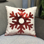 Christmas Sequins Positioning Embroidery Can Flip The Pattern Holding Pillowcase - YAXIR