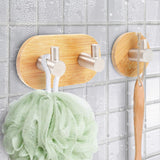 Wall Mounted Bamboo Wooden Coat Hook Rack - YAXIR