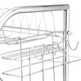 Stainless Carbon Steel Tableware Storage Rack Three Layers Cup Holder - YAXIR