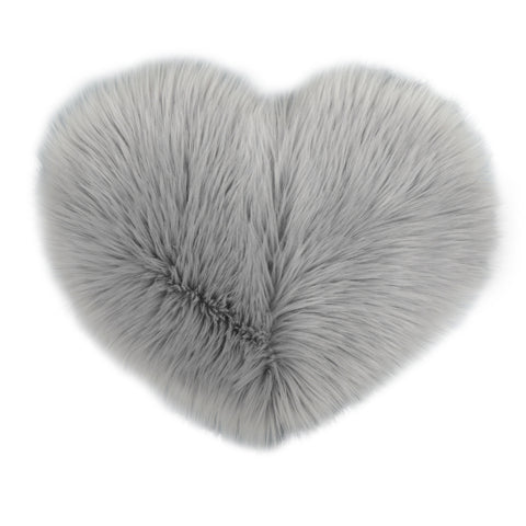 Love Heart Shape Artificial Wool Area Carpet for Home Decoration - YAXIR