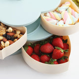 Double-layer Plum Type Storage Box for Seeds Nuts Candy Dry Fruits - YAXIR