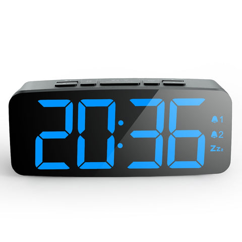Square Independent LED Electronic Alarm Clock Large Screen - YAXIR