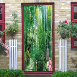 DZMT079 Bamboo Forest View Creative Door Sticker 2pcs - YAXIR