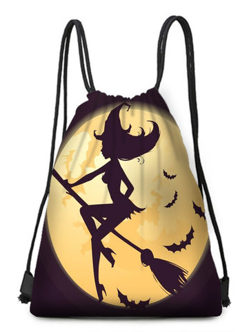 Halloween Witch Bat Drawstring Candy Bag - YAXIR