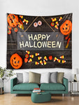 Happy Halloween Letter Pumpkin Wall Tapestry - YAXIR