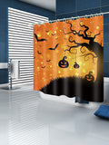 Halloween Pumpkin Tree Print Waterproof Bathroom Shower Curtain - YAXIR