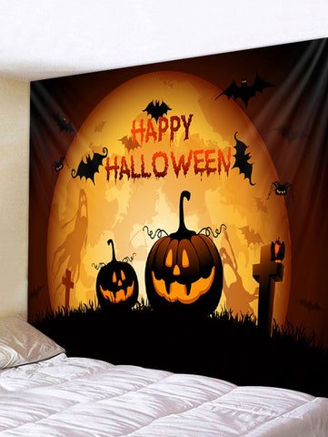 Pumpkin Gothic Halloween Character Print Art Decoration Wall Tapestry - YAXIR