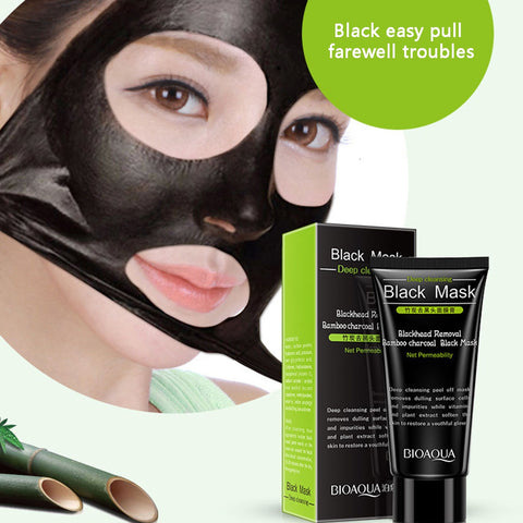 Blackhead Remover Nose Black Mask Face Care Mud Pore Strip Skin Care Peel Mask - YAXIR