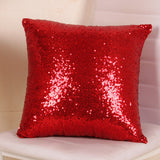 Solid Color 3 Cm Fixed Small Sequins Pillow Case - YAXIR