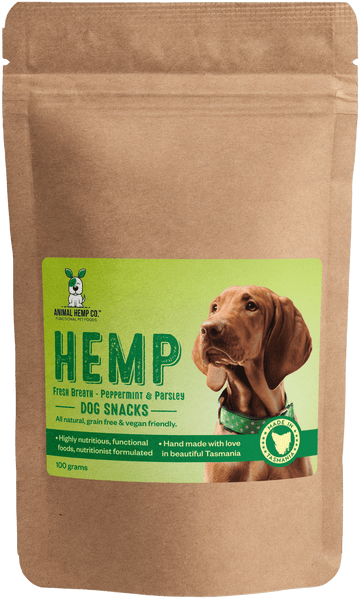 'Fresh Breath Peppermint & Parsley' Hemp Dog Snacks