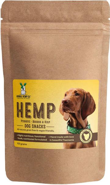 'Prebiotic Banana & Kelp' Hemp Dog Snacks