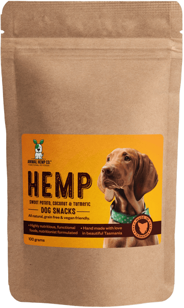 'Sweet Potato, Coconut & Turmeric' Hemp Dog Snacks
